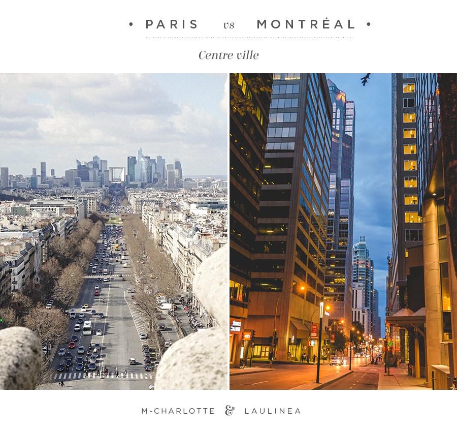 centre ville paris vs montr al d 39 ici d 39 ailleurs photography. Black Bedroom Furniture Sets. Home Design Ideas